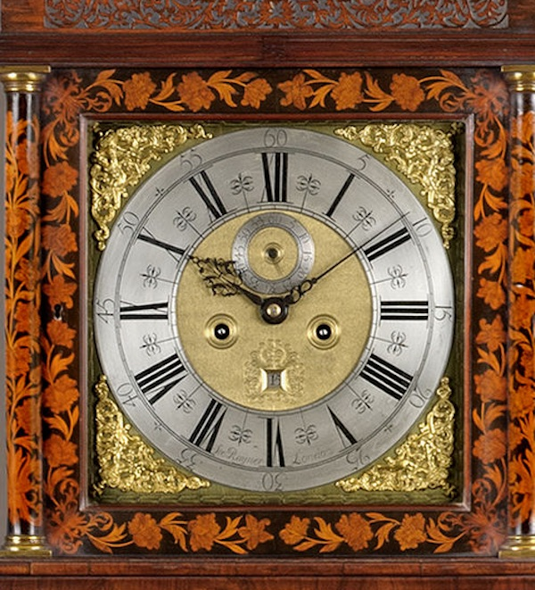 STEPHEN RAYNER. A fine William III period marquetry longcase clock of 8-day duration.