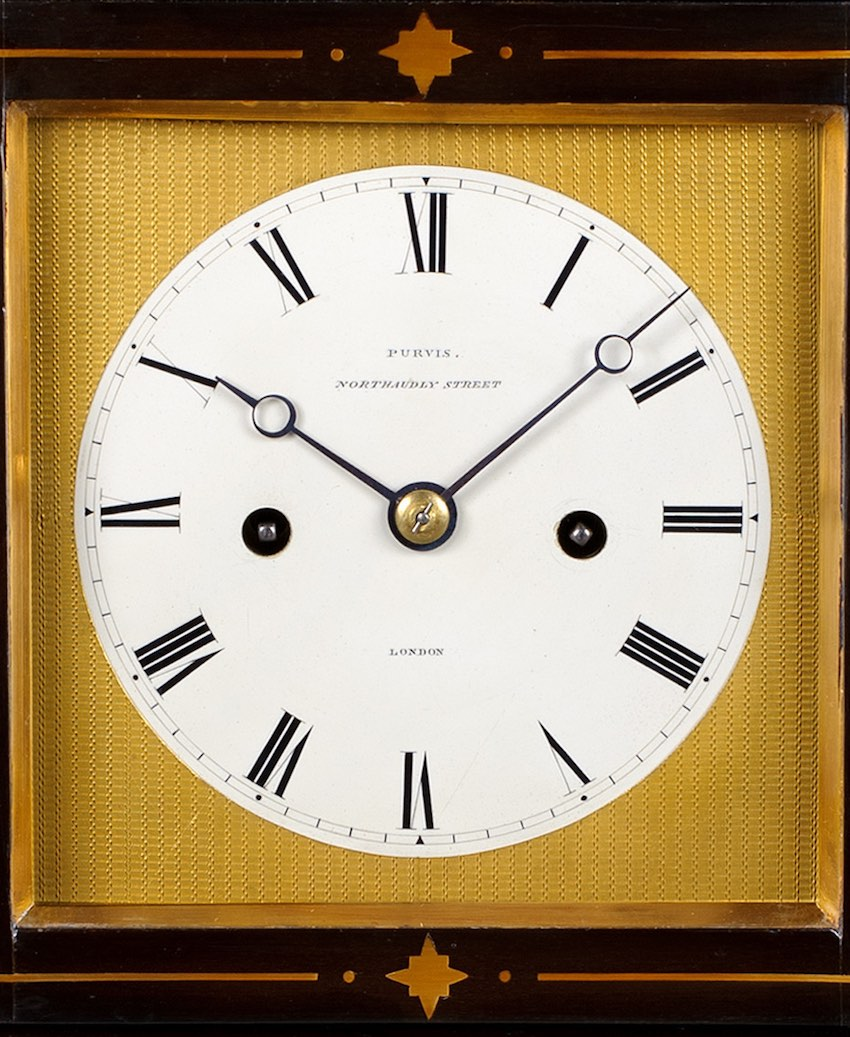 PURVIS EBONISED BRACKET CLOCK