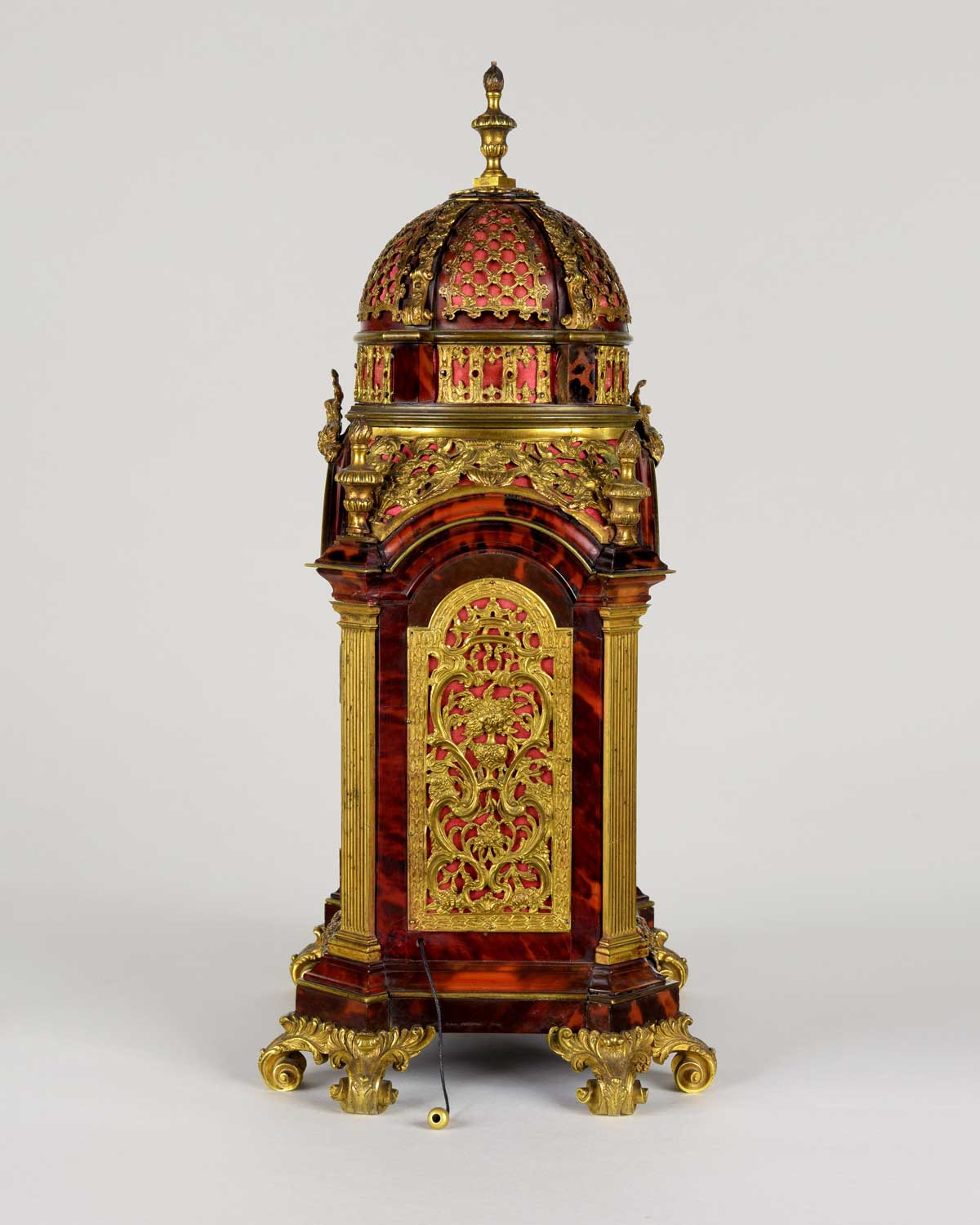MARKWICK MARKHAM AND PERIGAL. A fine and rare 18th century ormolu mounted tortoiseshell musical table clock of small size made for the Ottoman Market.