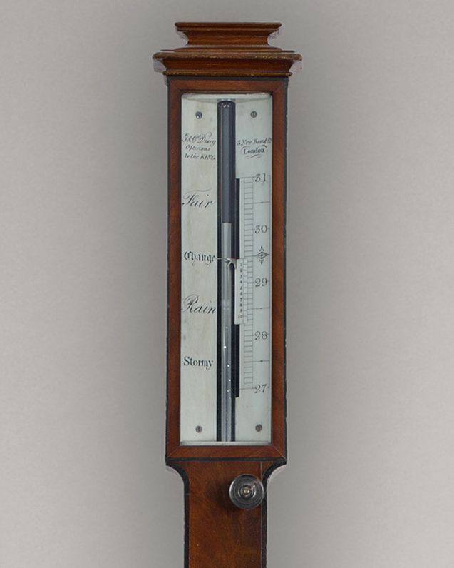 G & C  DIXEY,  Opticians to the King. A fine quality William IV period mahogany stick barometer.