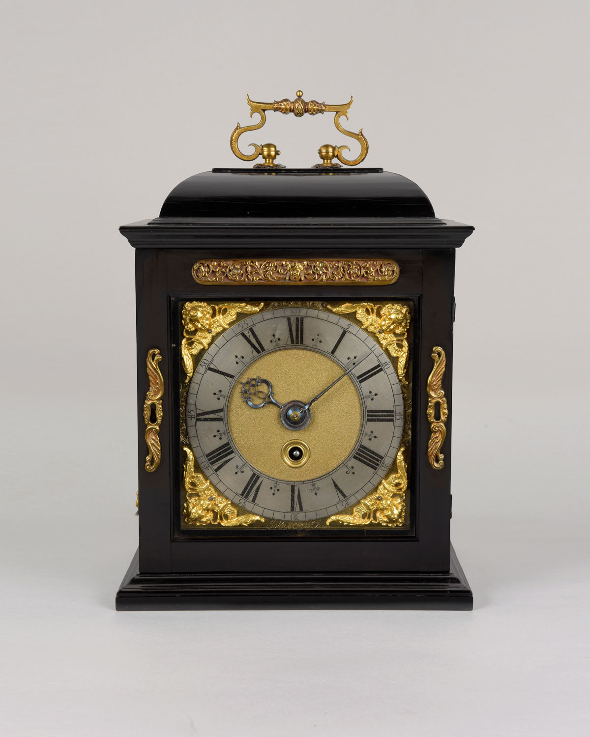 JOHN KNIBB, OXON.  A fine small spring driven table clock by this eminent maker.