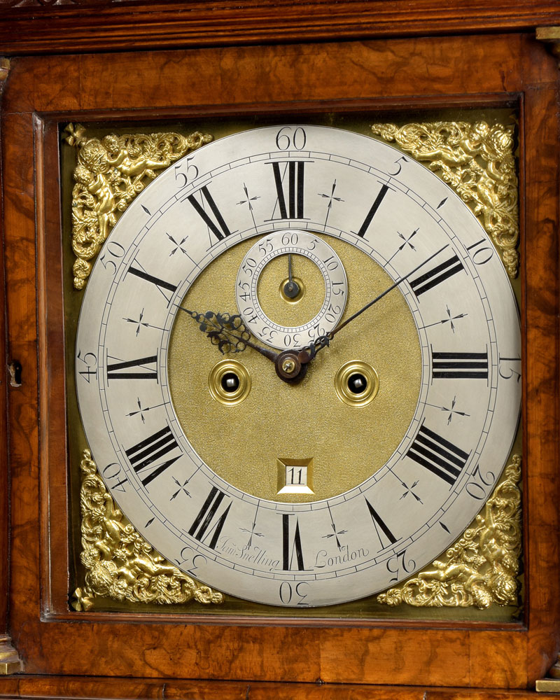 JAMES SNELLING, LONDON.  A fine George II period walnut longcase clock.