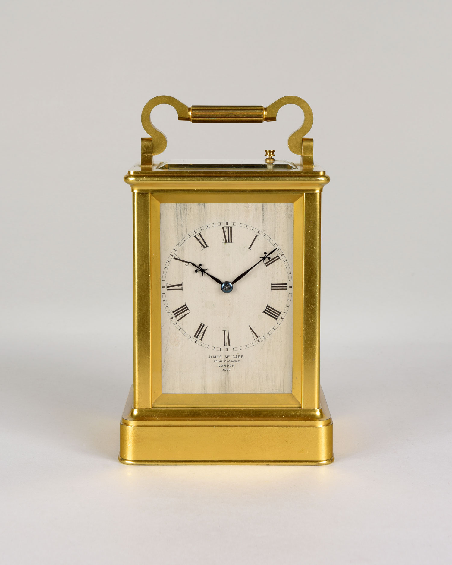 JAMES MCCABE, N° 3506.  A fine brass repeating carriage clock by this famous maker.