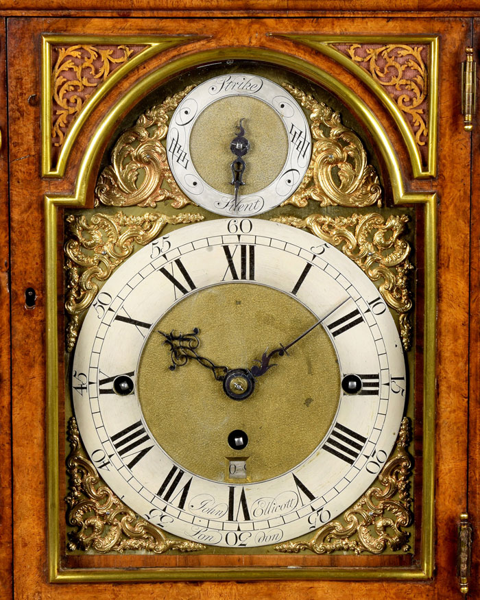 JOHN ELLICOTT. An exceptional early George III period quarter chiming table clock by this Royal maker.