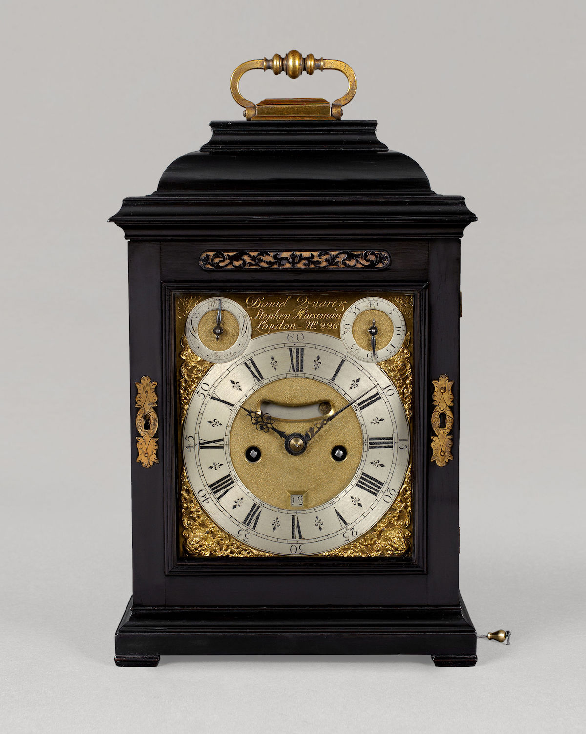 DANIEL QUARE & STEPHEN HORSEMAN, N° 266. A GEORGE I PERIOD QUARTER-REPEATING SPRING TABLE CLOCK BY ONE OF THE MOST CELEBRATED PARTNERSHIPS OF THE EARLY EIGHTEENTH CENTURY.