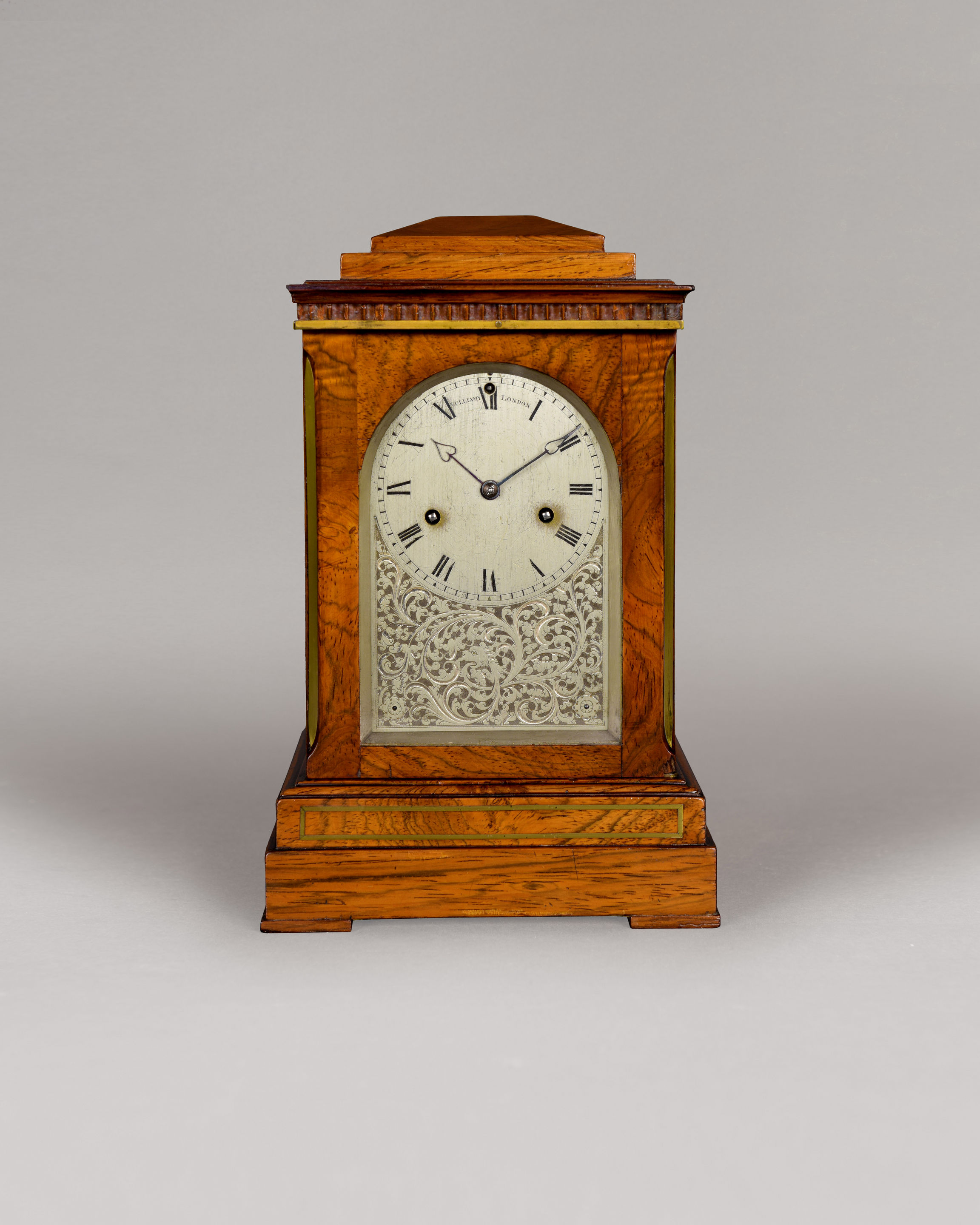 VULLIAMY N° 769. A RARE SMALL ROSEWOOD STRIKING LIBRARY CLOCK.