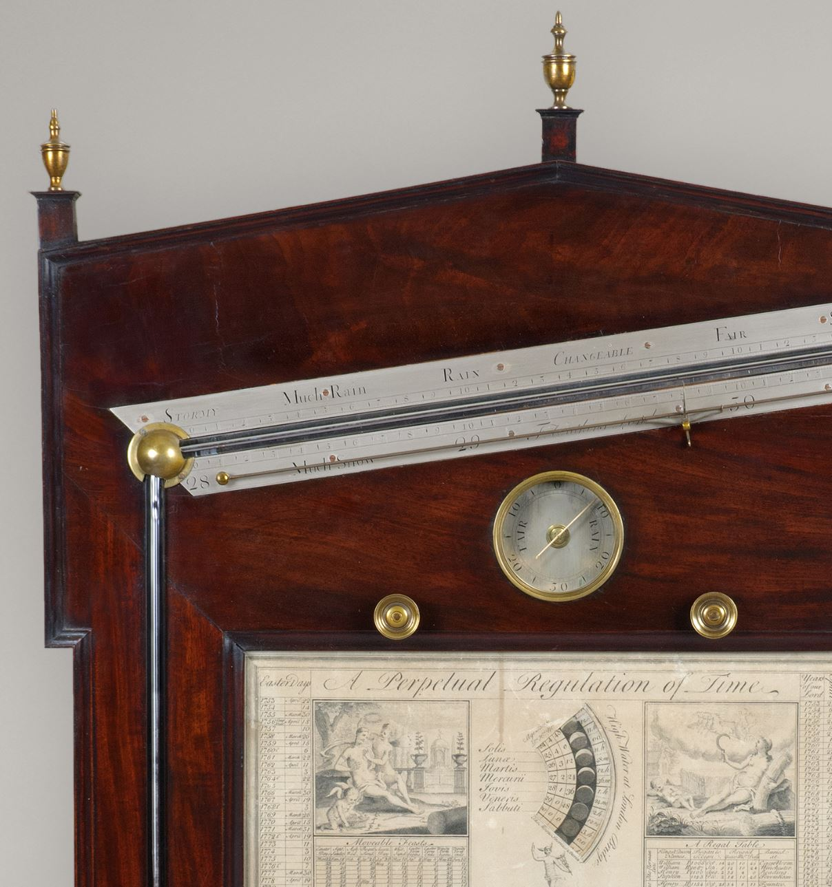 FRANCIS WATKINS, Charing Cross. An important George III period angle barometer