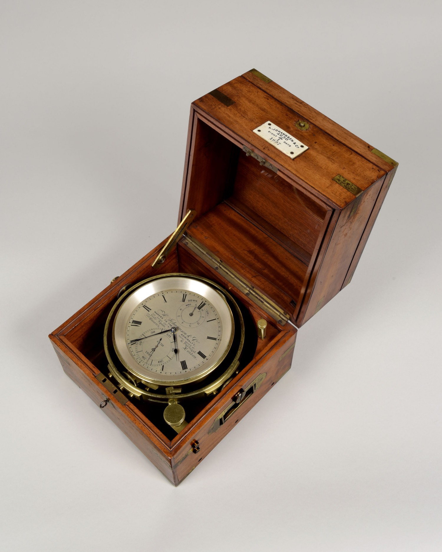 A. JOHANNSEN AND CO., NUMBER 4630 DATED 1897. A FINE 8-DAY MARINE CHRONOMETER.