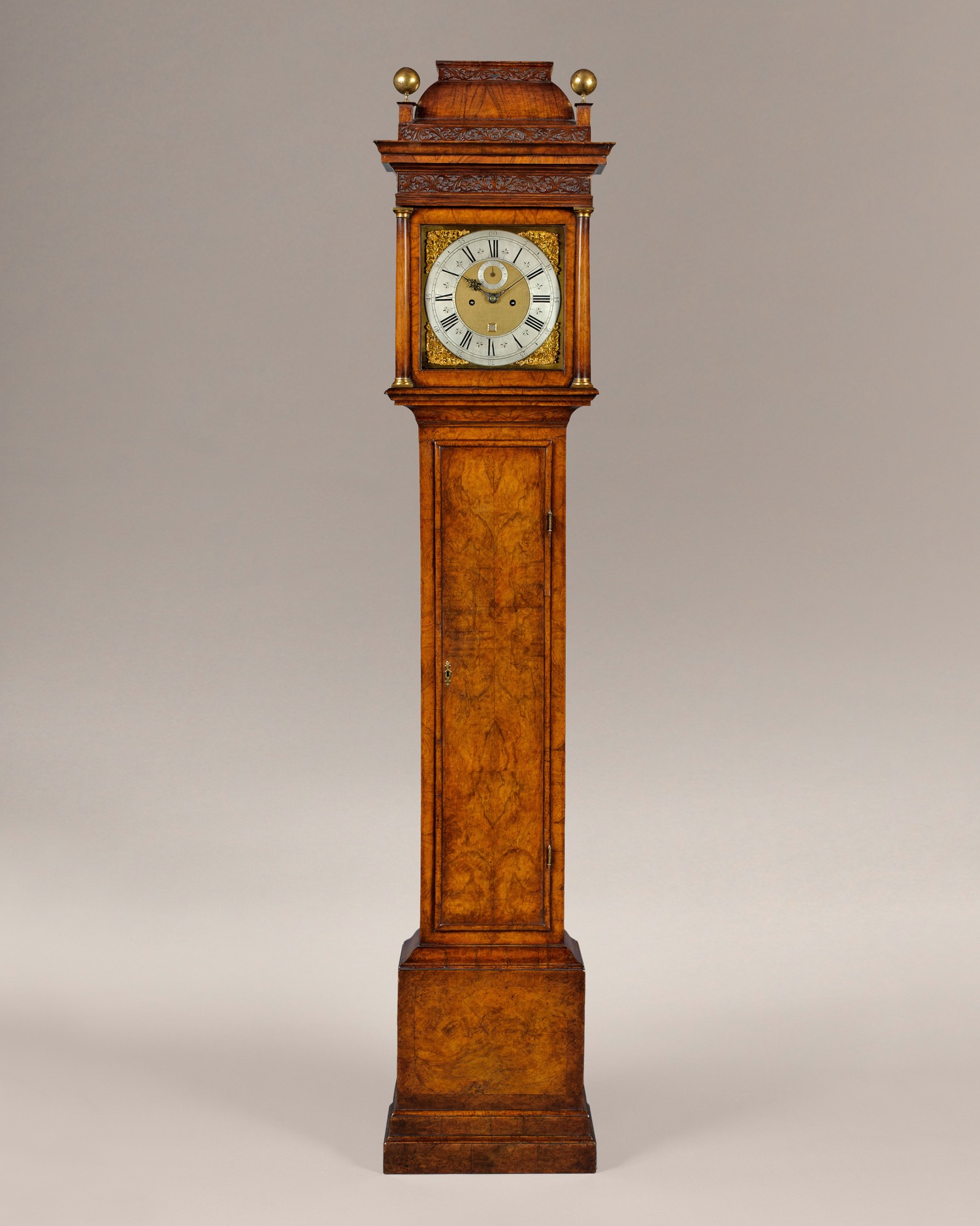 DANIEL DELANDER, LONDON, WALNUT LONGCASE CLOCK