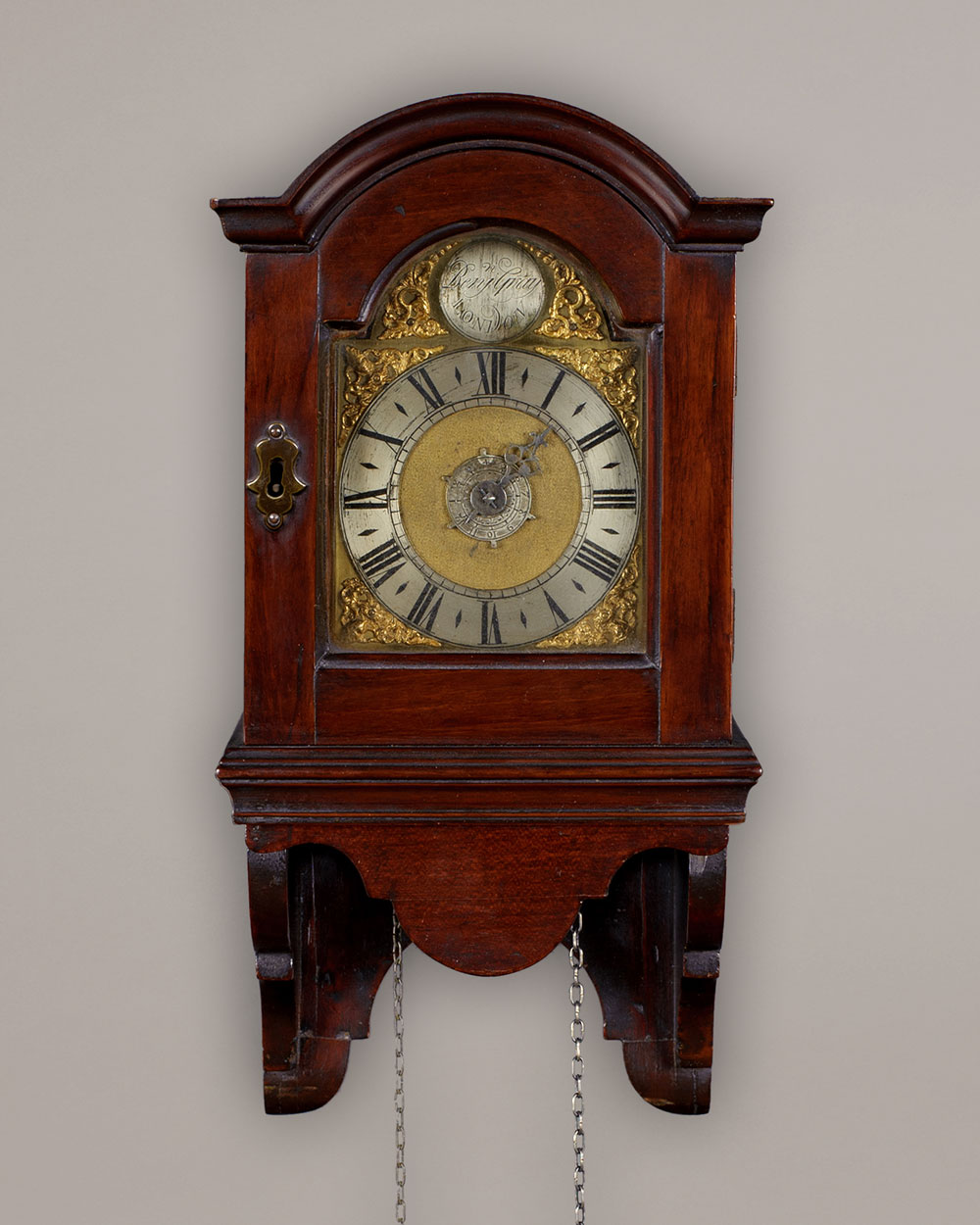 Benjamin Gray, A rare George II period arched dial timepiece with alarm