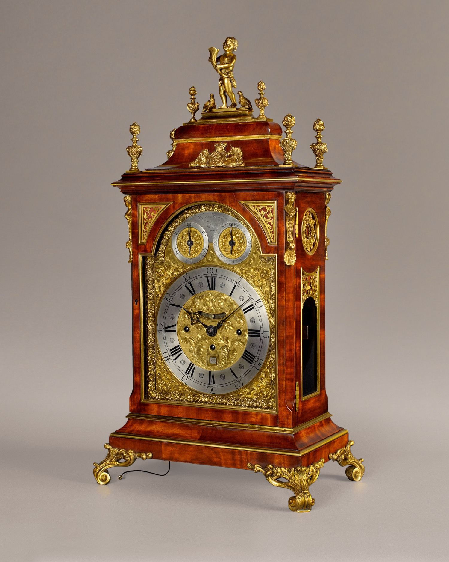 HENRY JENKINS. An important palace quality George III period mahogany table clock