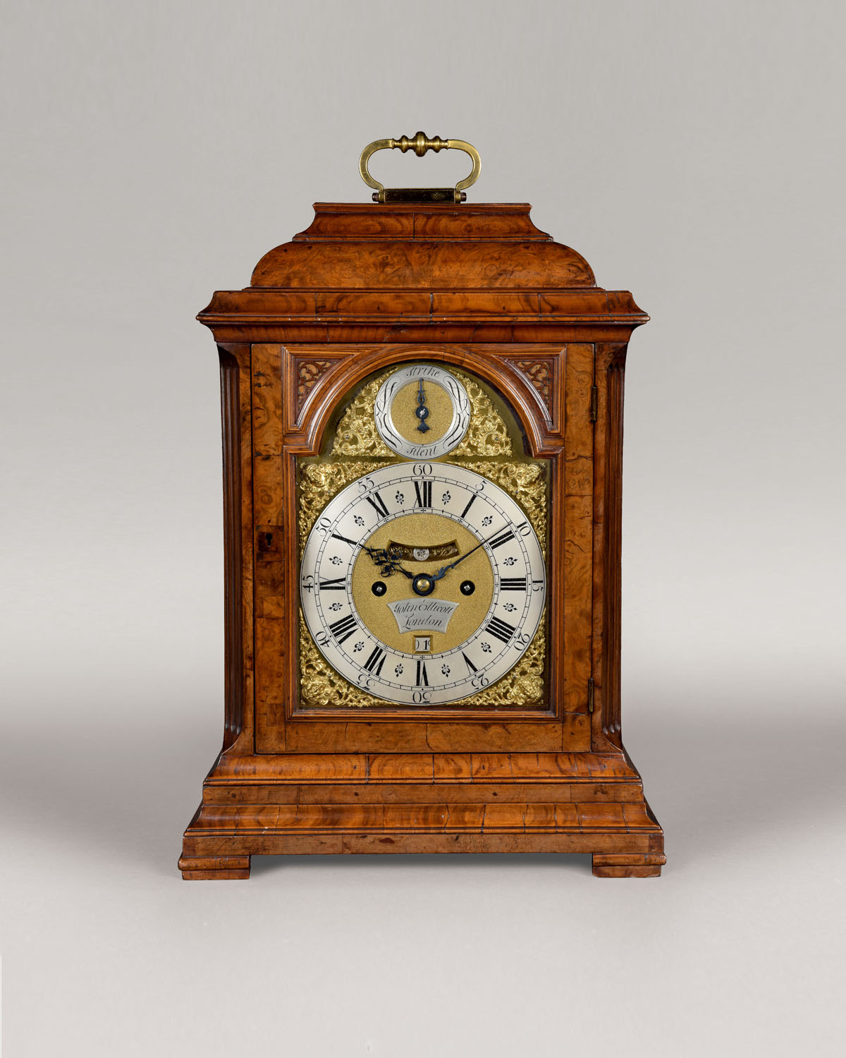 JOHN ELLICOTT, LONDON. A fine, late George II period walnut table clock by this celebrated Royal maker.