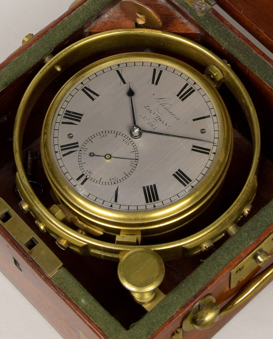 JOHNSON, N° 285. An early 19th century 2-day marine chronometer