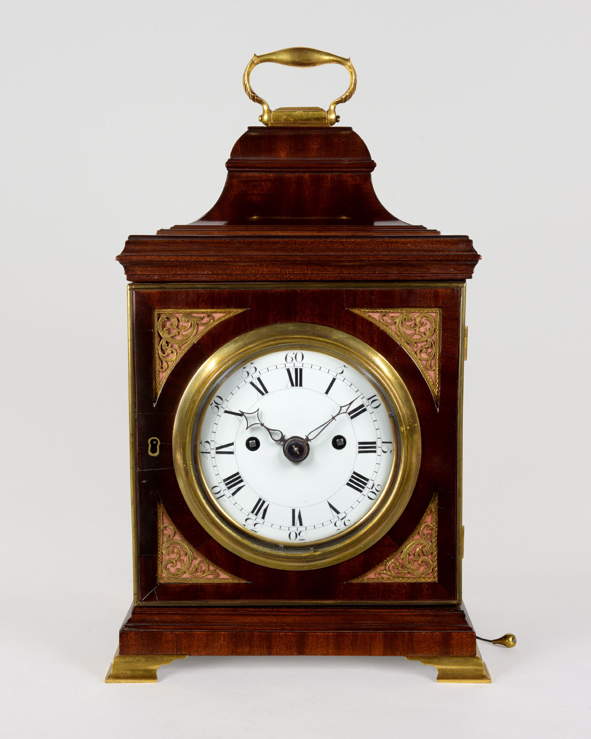 THOMAS WAGSTAFFE. A fine late George III period mahogany bracket clock
