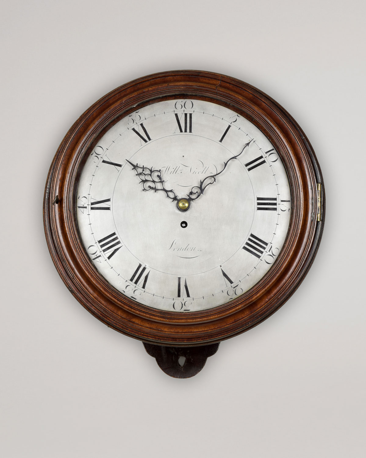 WILLIAM NICOLL. A George III period silvered dial timepiece