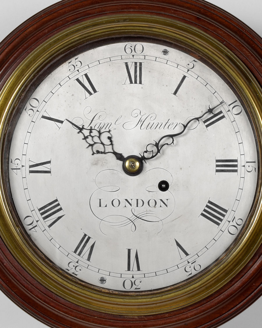 SAMUEL HUNTER. A rare small George III period English dial timepiece