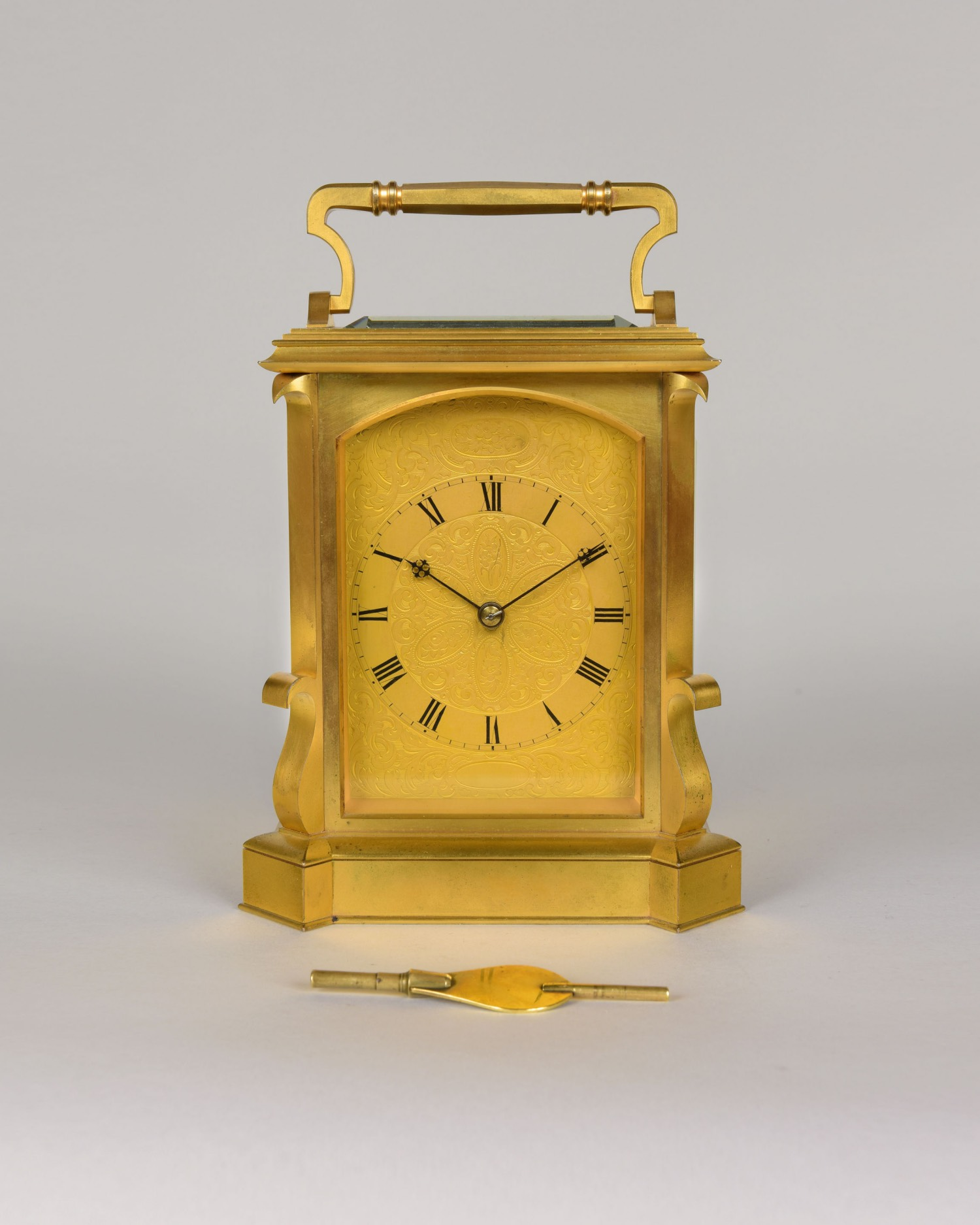 JOHN MOORE AND SONS, NUMBER 13480. AN EXCEPTIONAL GIANT GILT BRONZE CARRIAGE CLOCK