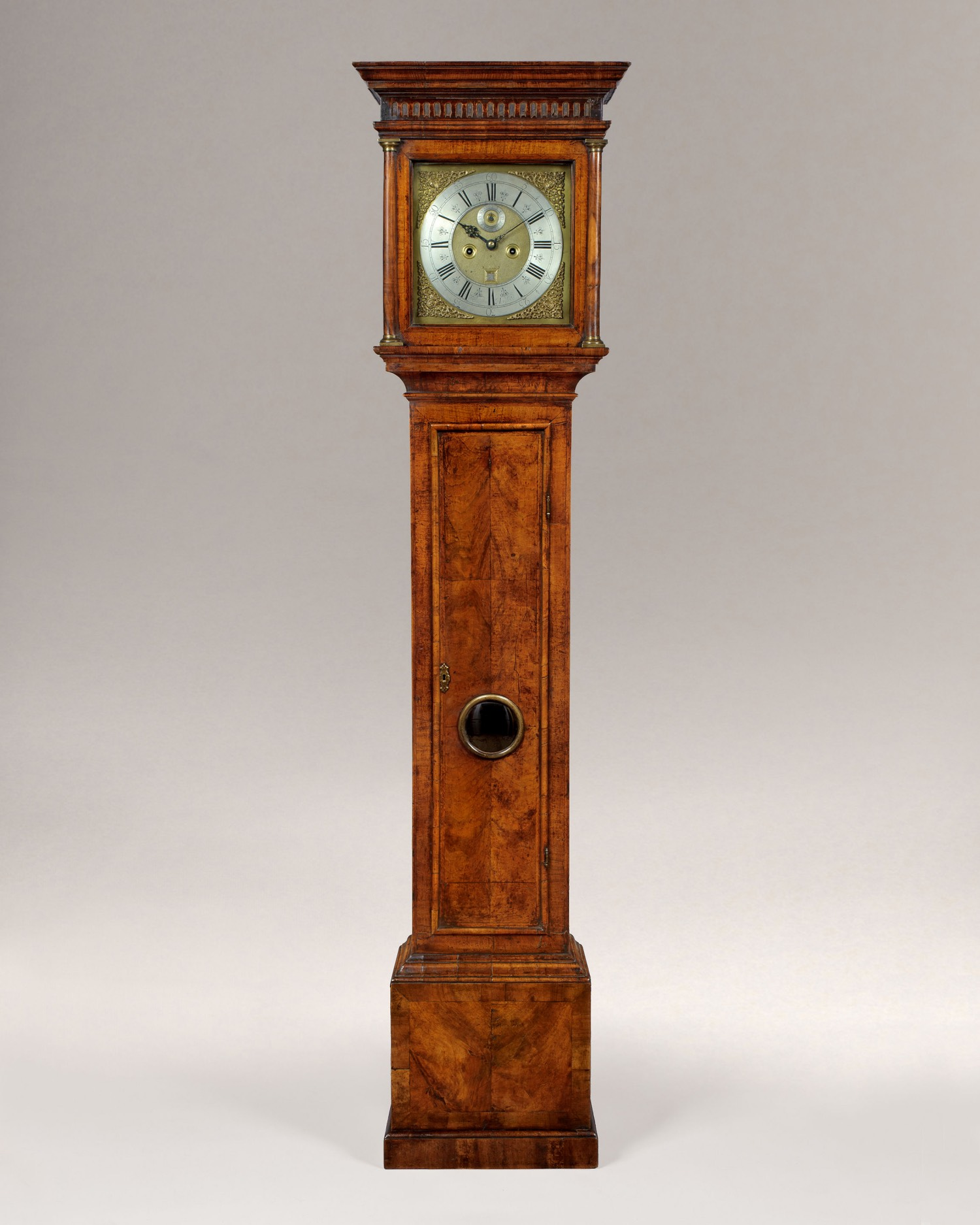 JOHN WITHERSTON. A RARE QUEEN ANNE PERIOD PROVINCIAL SQUARE DIAL WALNUT LONGCASE CLOCK.