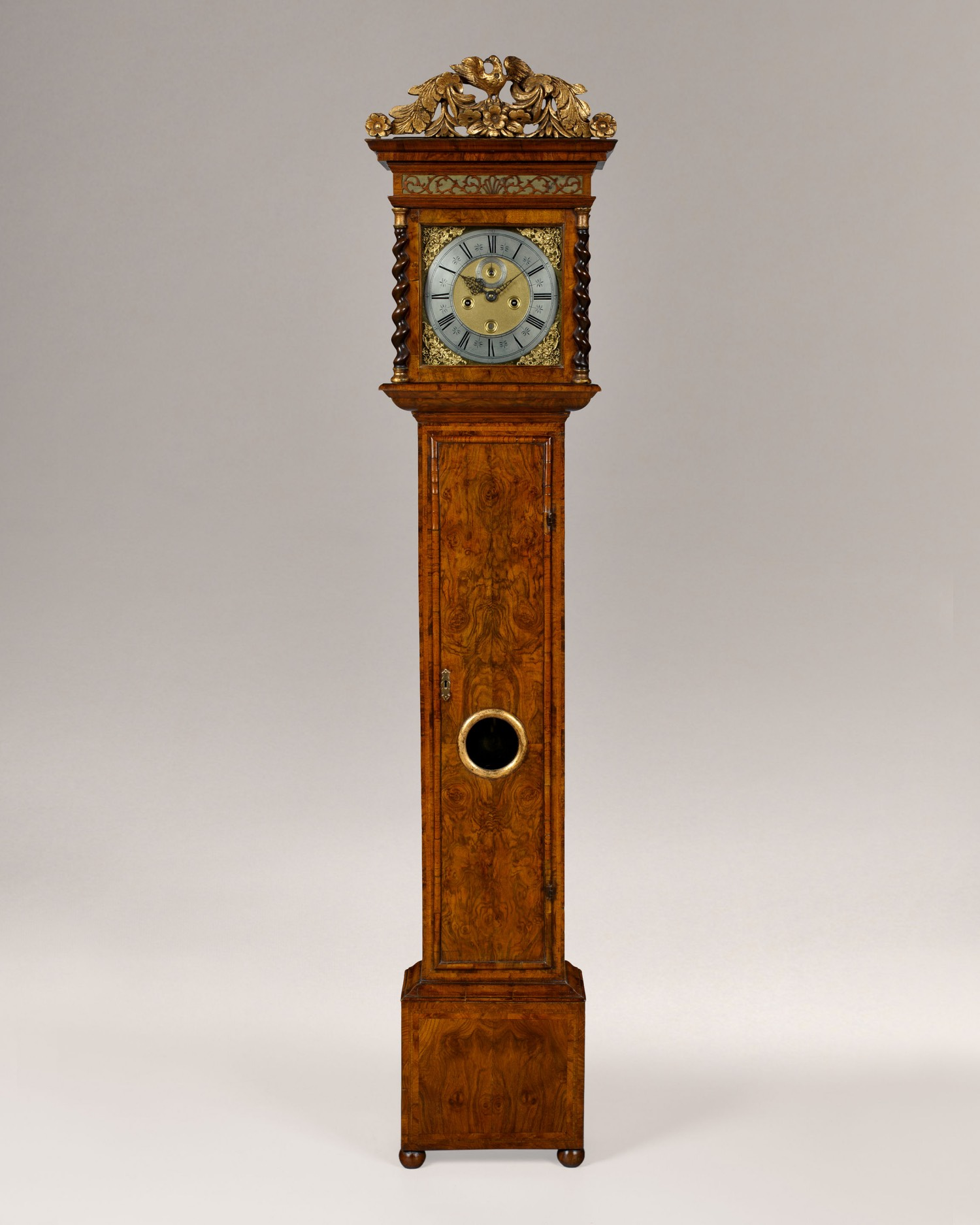 JOSEPH WINDMILLS. A RARE DOCUMENTED WILLIAM III PERIOD 8-DAY WALNUT LONGCASE CLOCK
