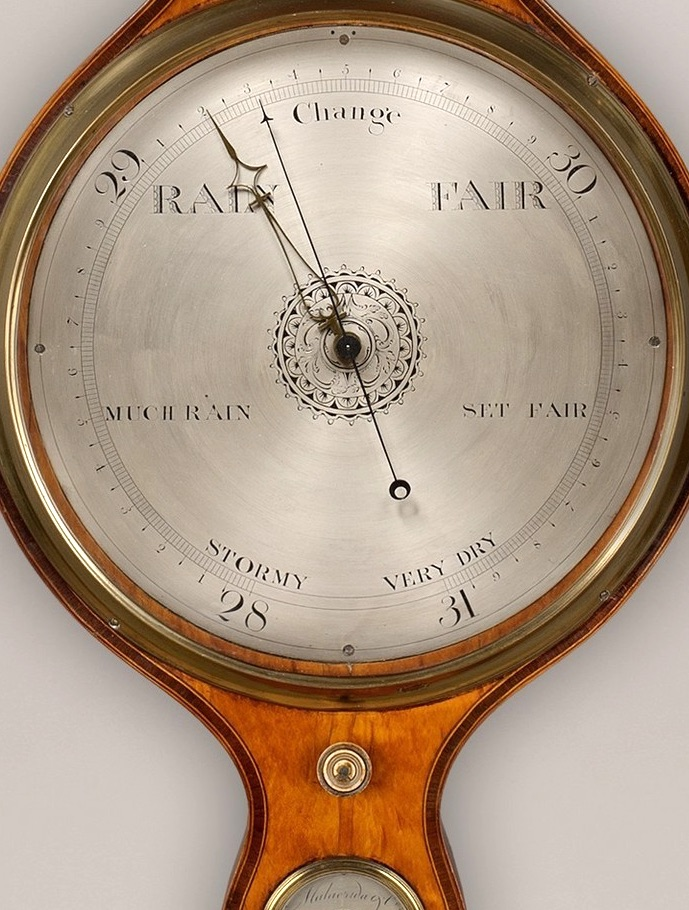 MALACRIDA AND CO., LONDON AND DUBLIN, A FINE 19TH CENTURY BANJO BAROMETER