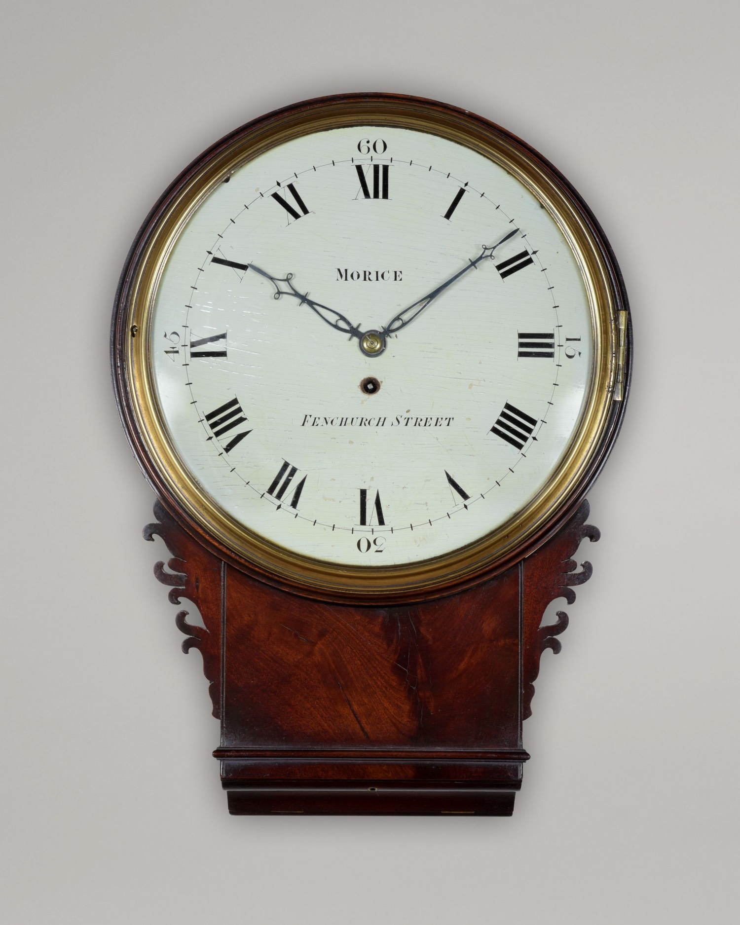 MORICE. AN EXCEPTIONAL LATE GEORGE III PERIOD WALL CLOCK