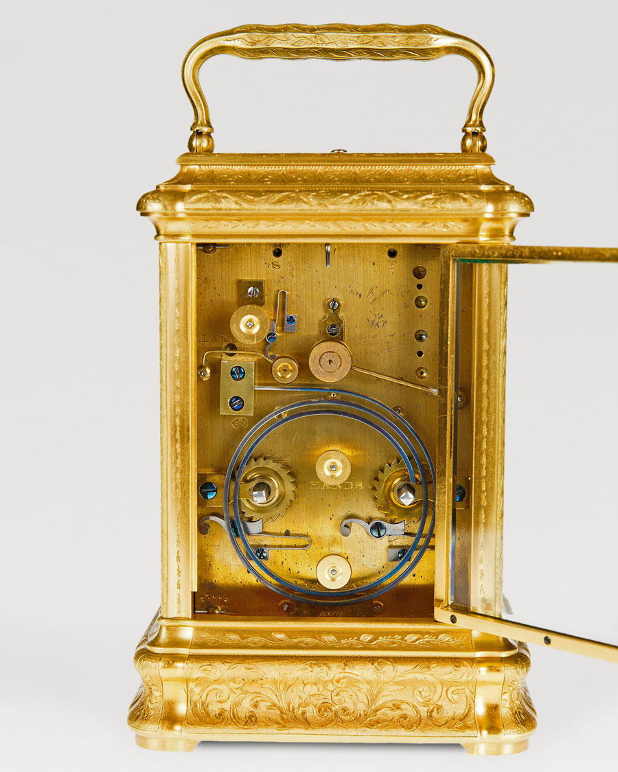DROCOURT À PARIS, N° 17001. A rare giant gorge cased carriage clock