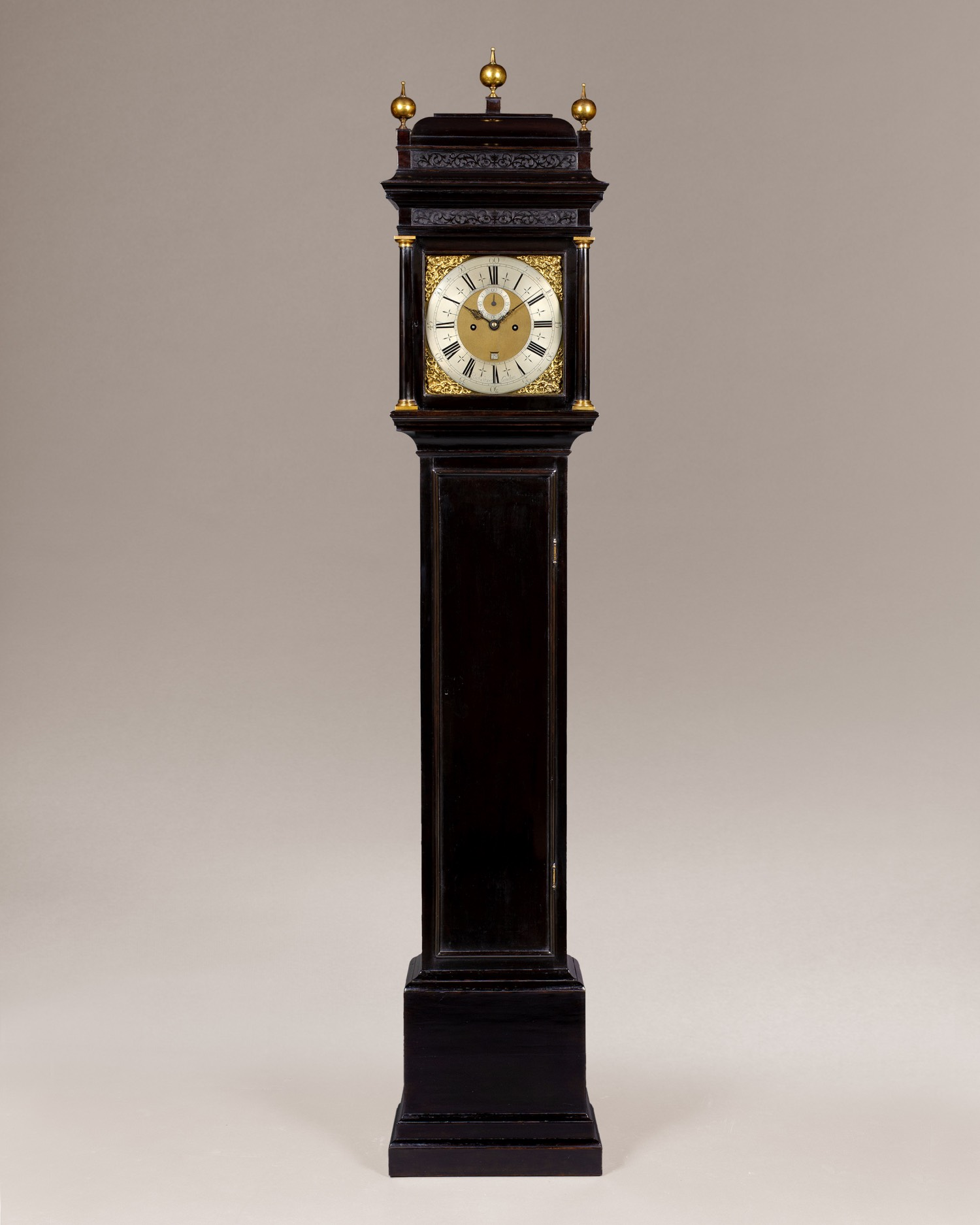 RICHARD STREET, QUEEN ANNE EBONISED LONGCASE CLOCK
